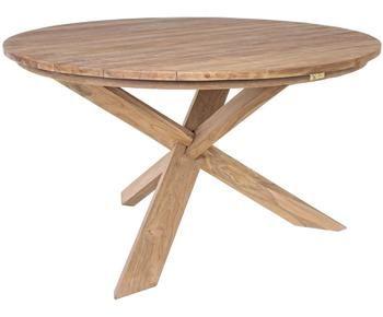 Table ronde en bois massif Rift, Ø 135 cm