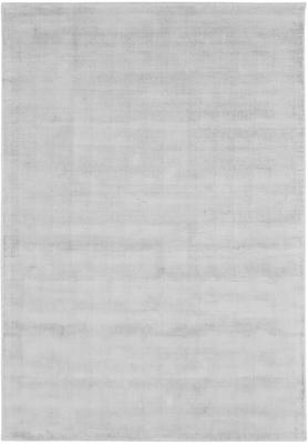 Tappeto in viscosa color grigio argento tessuto a mano Jane