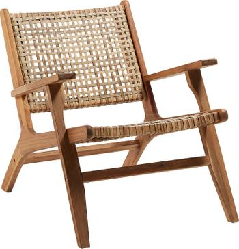 Fauteuil lounge en cannage Grignoon