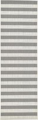 Pruhovaný behúň do interiéru/exteriéru  Axa, sivá/biela