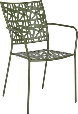 Sedia impilabile da giardino in metallo Kelsie