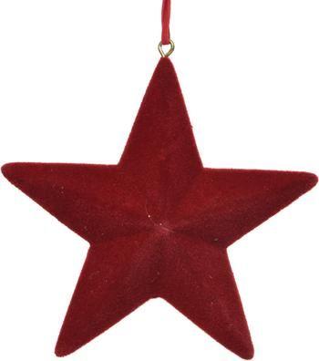 Ster hangers Reddy Ø 12 cm, 4 stuks