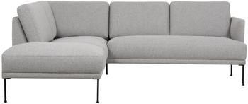 Canapé d'angle tissu gris clair Fluente