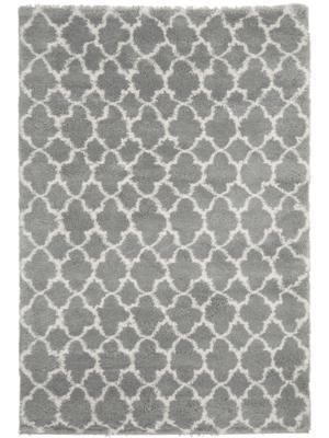 Hochflor-Teppich Mona in Grau/Creme