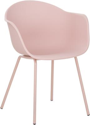 Krzesło z podłokietnikami z tworzywa sztucznego Claire