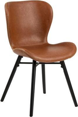 Stolička s čalúnením z umelej kože Batilda, 2 ks
