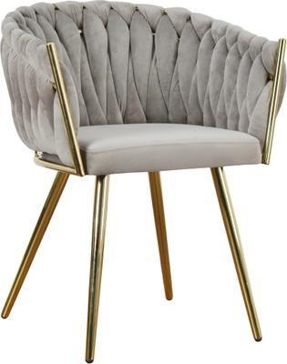 Krzesło z podłokietnikami z aksamitu Larissa