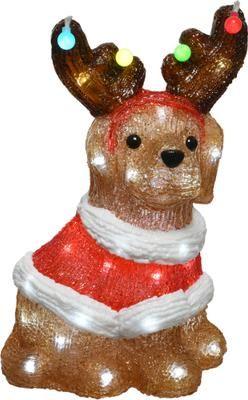 LED Leuchtobjekt Dog H 34 cm, mit Stecker