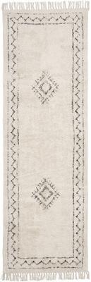 Tapis de couloir en coton bohème tissé à la main avec franges Frame