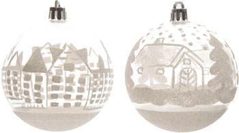 Boule de Noël White City Ø8cm, 4élém.