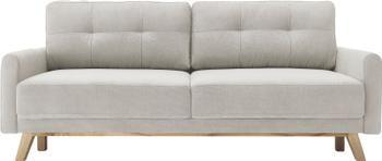 Sofá cama de terciopelo Balio (3plazas), con espacio de almacenamiento, abatible