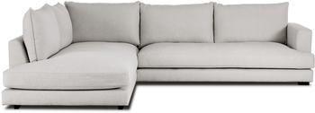 Grand canapé d'angle gris-beige Tribeca