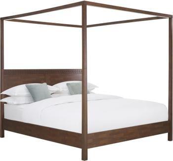 Łóżko drewniane z baldachimem Retreat