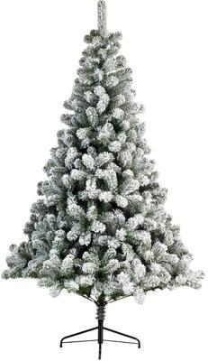 Decoratieve kerstboom North Pole, besneeuwd