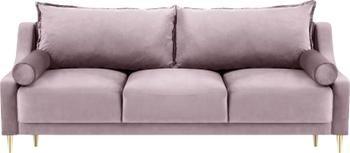 Sofa z aksamitu z funkcją spania i miejscem do przechowywania Lea (3-osobowa)