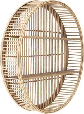 Estante de pared redondo de bambú Bentra