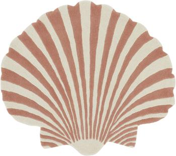 Handgetufteter Wollteppich Shellie in Muschel-Form
