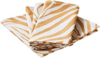 Tovagliolo in cotone con motivo zebra Zadie 4 pz