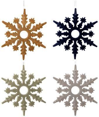 Komplet ozdób choinkowych Snowflakes, 4 elem.