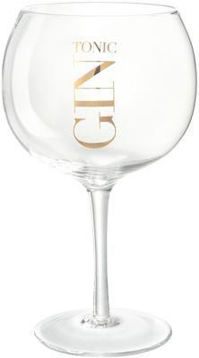 Gin Tonic glazenset met tekst, 4-delig