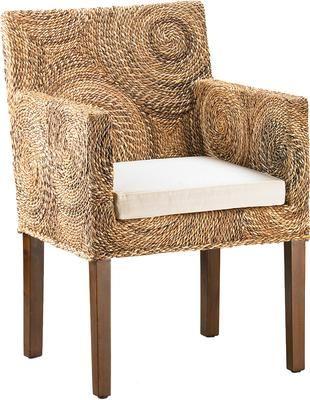 Ręcznie wykonany fotel z rattanu Banana