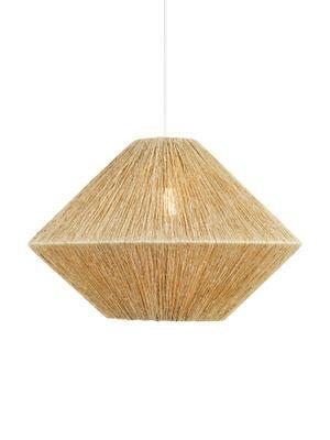 Lámpara de techo grande de ratán Straw