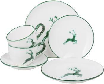 Service à café en céramique artisanale Cerf Vert Classic, 2personnes (6élém. )