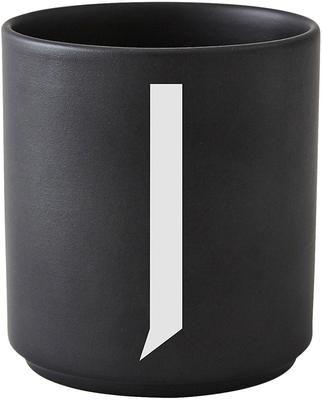 Mug design porcelaine noire Personal (variantes deA à Z)