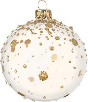 Boule de Noël Golden Spots Ø8cm, 2pièces