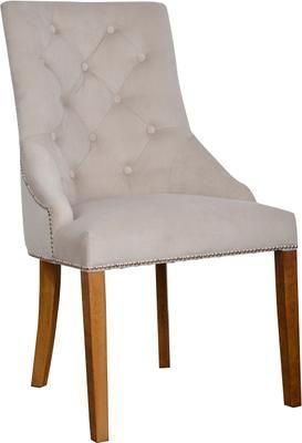 Krzesło tapicerowane z aksamitu Madam