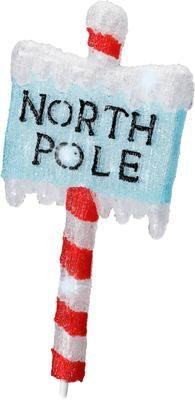 LED Leuchtobjekt North Pole H 93 cm, mit Stecker