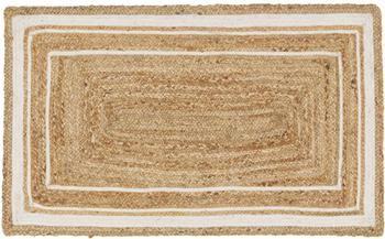 Ručne tkaná jutová rohožka Clover