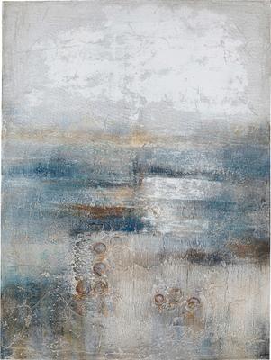 Cuadro en lienzo pintado a mano Abstract Into The Night