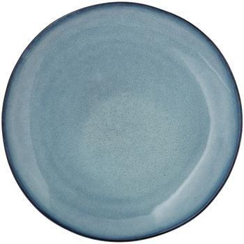 Handgemaakt keramisch dinerbord Sandrine in blauwe tinten