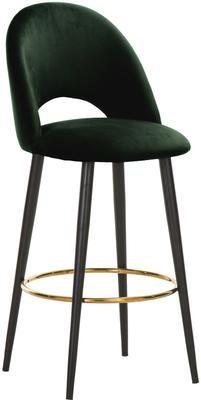 Zamatová barová stolička Rachel