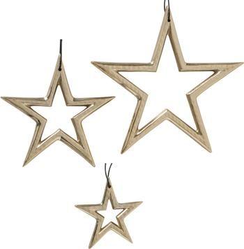 Sterren hangers Taumi in goudkleur, 3 stuks