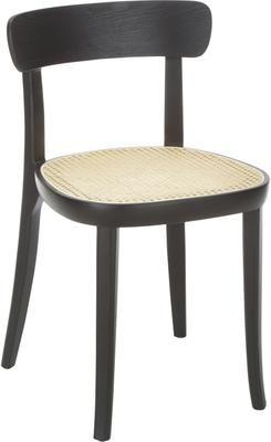 Chaise en bois cannage Richie, 2pièces