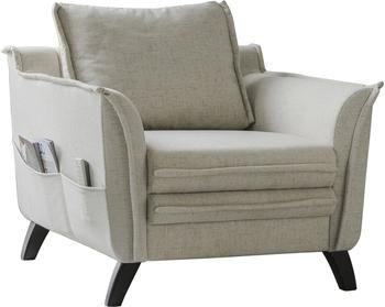 Fotel z imitacją lnu Charming Charlie