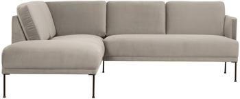 Canapé d'angle velours beige Fluente