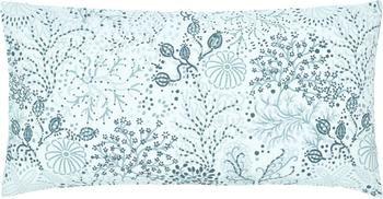 Taie d'oreiller coton bleu/blanc crème Nadira, 2pièces