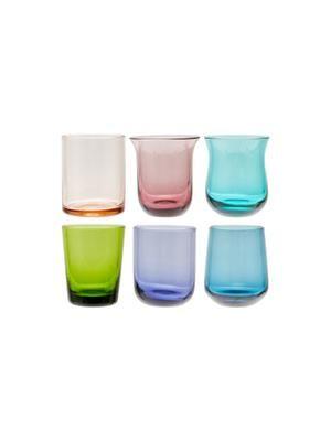 Set 6 bicchierini in vetro soffiato Desigual