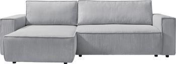 Sofa narożna ze sztruksu z funkcją spania i miejscem do przechowywania Nihad