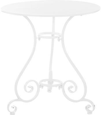 Table de jardin ronde en métal Etienne