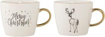 Tasse à café en grès pour hiver Noel, 2 élém.