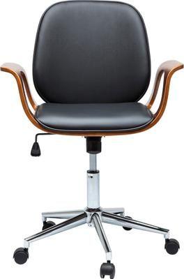 Chaise de bureau en cuir synthétique Patron, hauteur réglable