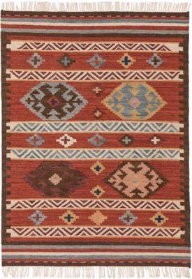 Tappeto kilim in lana tessuto a mano Zohra