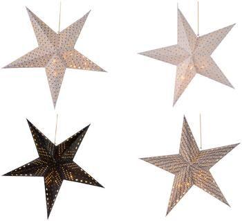 Estrellas de papel Bao, 4uds., funciona a pilas