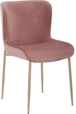 Chaise velours rembourrée Tess