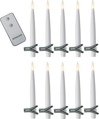 Batteriebetriebene LED-Kerzen Zoe 11-tlg., warmweiß