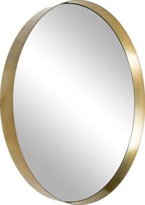 Okrągłe lustro ścienne Metal